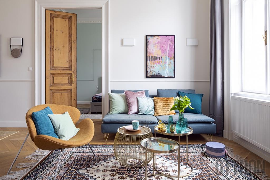 Stílus és boldogság egy nagykörúti lakásban